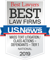 U.S. News Best Law Firms - National Tier-1 2019 Mass Torts Class Actions Defendants